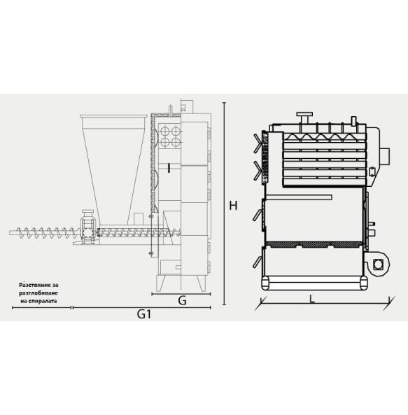 Пелетен котел ЕМТАШ EK3G/S 120-1020